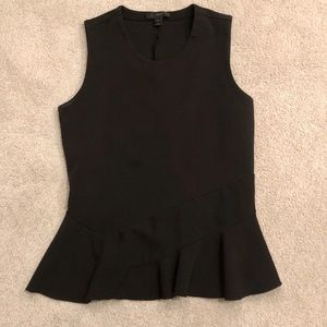 J Crew Sleeveless Shirt with Flare